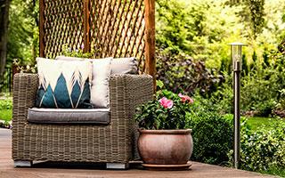 Características de Muebles de jardín fabricados con ratán y mimbre