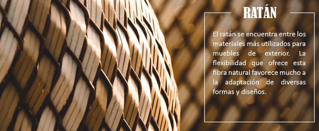Fibras naturales para muebles de exteriores