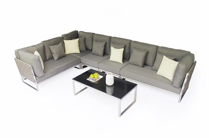 Sala Gala. Para tus reuniones al aire libre, en familia o con amigos la sala Gala es ideal para tener unidad y confort por su diseño único, elegante e innovador. Muebles para terrazas.