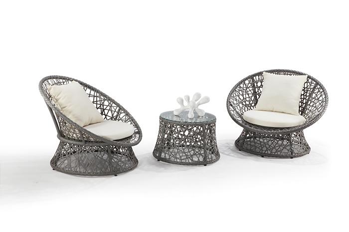 Set Lounge Negeen. Un bonito lounge para disfrutar el atardecer.  Cuenta con Estructura de aluminio & tejido en  PE
