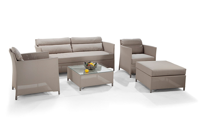 Sala Parisa. El diseño de sala Parisa es cómodo, moderno y muy fresco para disfrutar de esas reuniones en familia o con amigos.  Muebles para terrazas.
