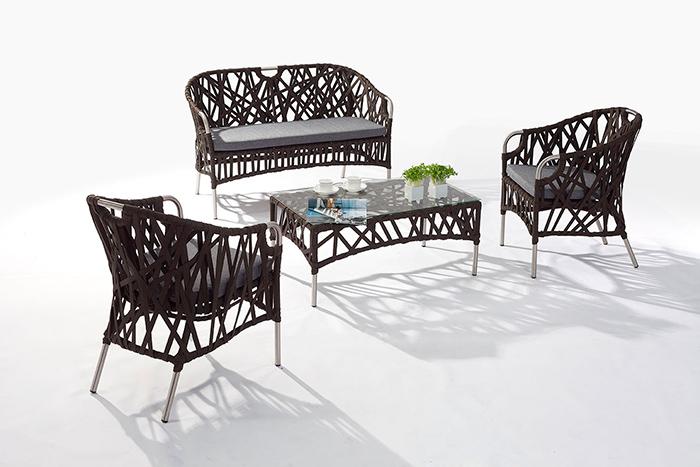Sala Valtina. El tejido en la sala Valtina es moderno y muy cómodo.  Muebles para terrazas.